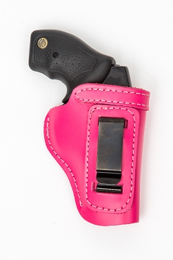 Beckys Pink Leather Holster